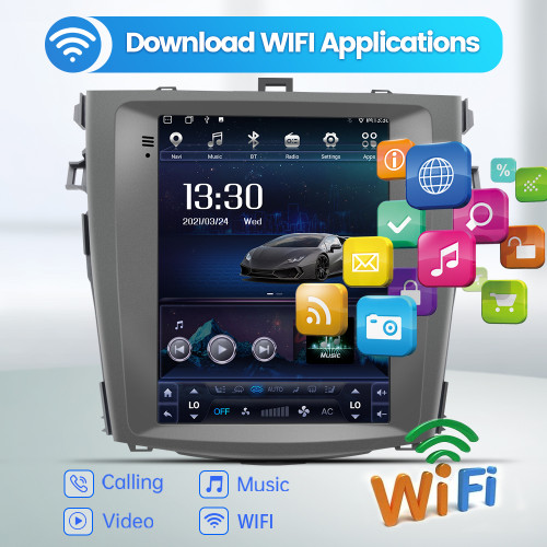AWESAFE Car Radio Stereo Andriod 10 for Toyota Corolla 2007-2013 Head Unit Support Carplay Android Auto