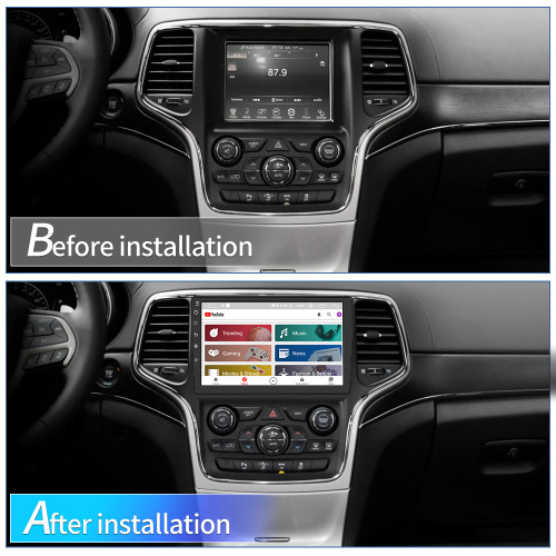 AWESAFE Car Radio Stereo 9 inch Touch Screen for Jeep Grand Cherokee WK2 2014-2017 with Bluetooth GPS Navigation