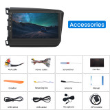 AWESAFE Car Stereo Radio Android 10.0 for Honda Civic 2012-2015, Double Din Touch Screen Car Radio Head Unit with Bluetooth WiFi FM Mirror Link GPS Navigation Split Screen SWC