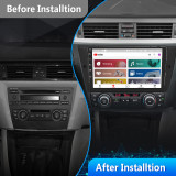 AWESAFE Car Radio Stereo for BMW 328i 335i 325i E90 E91 E92 E93 9 inch Touch Screen with Bluetooth GPS Navigation