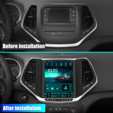 AWESAFE Car Stereo Android 10.0 for Jeep Cherokee 2016-2018 Radio Built in Carplay Touch Screen Support Bluetooth WiFi GPS Navigation Steering Wheel Control