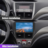 AWESAFE Car Radio Stereo for Subaru XV Forester WRX 2008-2012 Touch Screen Multimedia Video Player Support Bluetooth Radio GPS Navigation Head Unit Split Screen