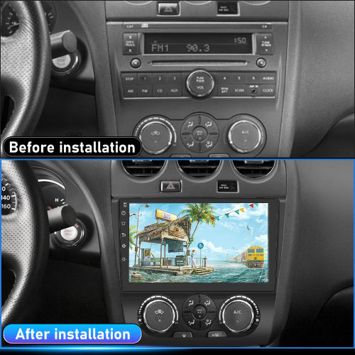 AWESAFE Car Radio Stereo for Nissan Teana Altima 2008 2009 2010 2011 2012 Android 10 Touch Screen Radio Bluetooth WiFi GPS Navigation FM Support Mirror Link Steering Wheel Controls