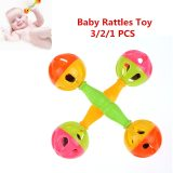 3/2/1PCS Baby Rattles Toy Food Grade Teething Rattle Plastic Hand Bell Intelligence Grasping Gums Baby Teether Toy for 0-3 years
