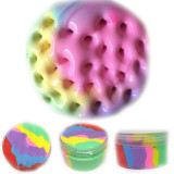 Beautiful Color Mixing Cloud Slime Squishy Putty Scented Stress Kids Clay Toy Colorful rainbow Cloud Slime Clay anti Stress