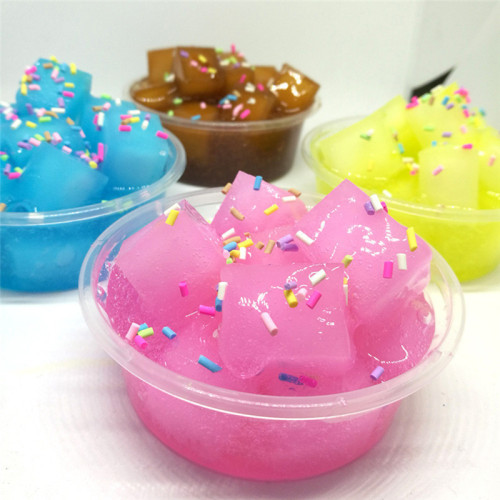 Dropship Handmade DIY Coconut Slime Clay Squishy Scented Stress Kids Toy Sludge Cotton Mud Magic Crystal Clay Toy Plasticine