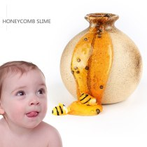 60ML Clear slime  Honeybee Crystal Mixing Cloud Slime Putty Scented Stress Toy Suitable for Gifts Arts Crafts Free for Stir Bar