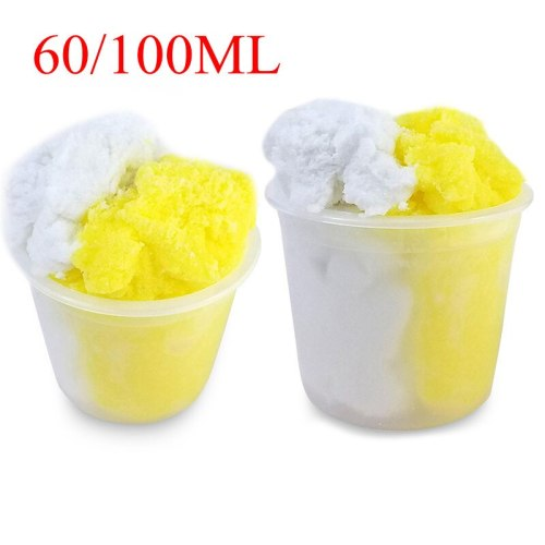 2018 New Yellow and White Cloud Slime 60ML Reduced Pressure Mud Stress Relief Kids Cotton Mud Release Clay Toy Drop shipping