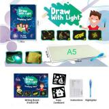 2020 New Painting Toy Drawing With Light Fun And Developing Toy Drawing Board Magic Draw Educational Toys Kids New year gift