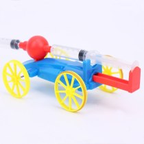 Air powered car Building Kits  Education DIY Model Toy Gift For Kids Craft Scientific physics experiment
