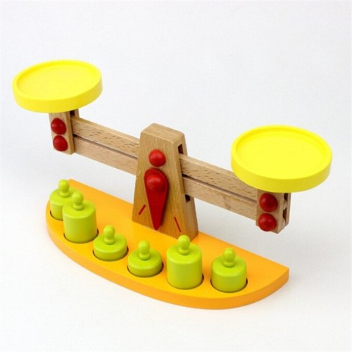 Montessori teaching tools wooden balance baby balance game Tianping wood puzzle children's toys Kindergarten gift