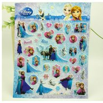 4 pcs/set frozen elsa and Anna Sticker 3D Cartoon Princess Sophia cars Classic Toys for kids gift