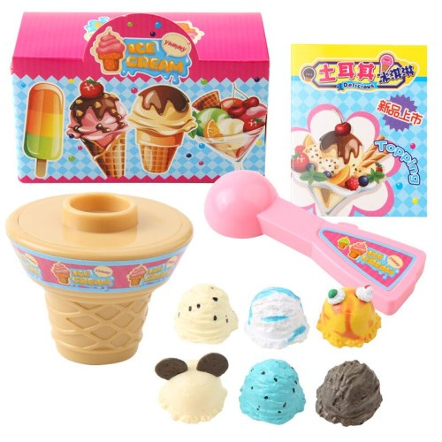 Ice cream toy set Puzzle Role playing children's toys Development Practice and Senses