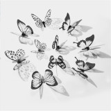 18pcs/lot 3D Effect Crystal Butterflies Sticker Beautiful butterfly stickers on the wall or clothes or hands