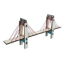 Homemade cable stayed bridge Building Kits  Education  Model Toy Gift For Kids DIY  physics experiment