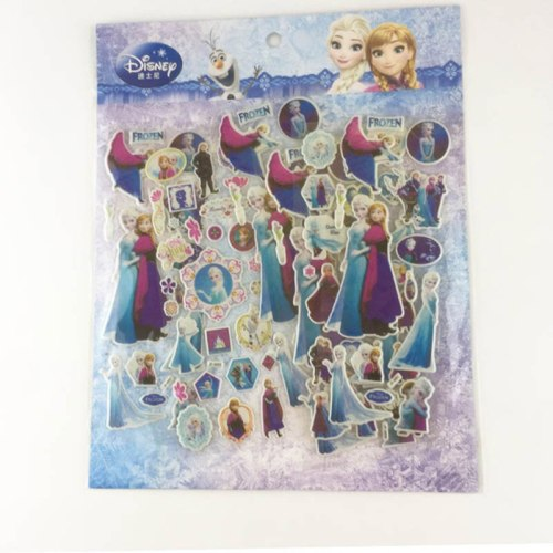 4 pcs/set 3D frozen elsa and Anna Stickers Mickey Mouse Pixar Cars  Cartoon Princess Sophia Stickers Classic Toys for kids gift