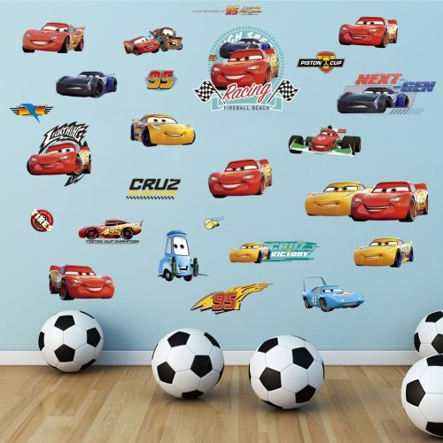 Disney boys cars stickers Bedroom Room sticker for kids Birthday party gift
