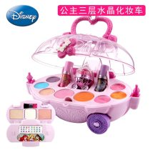 Disney Frozen girls Cosmetic Princess Makeup Box Suitcase Lipstick kids Toy Children pretend play cosmetic set for baby gift