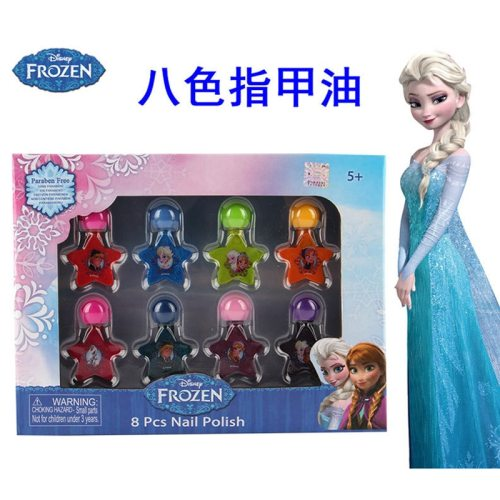 girls frozen Princess elsa anna Nail polish Makeup set Disney Water soluble kids House Makeup Toys  baby Christmas present