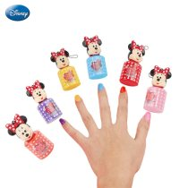 1pc Disney Mickey Mouse Minnie Nail Polish Toys Water Soluble Washable  Pretend Play Fashion Toys Children Girls Makeup Toy Gift