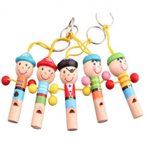 Children's whistle cartoon small whistle playing instruments wooden baby puzzle early teaching aids music educational toys