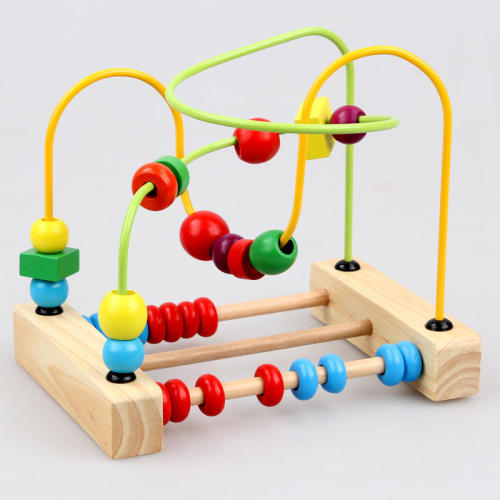 BabyToys Classic Toy Bead Maze Game Child Toys Wooden Building Blocks Toys gift Montessori Educational Intelligence Model Kits