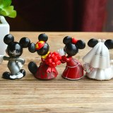 Cartoon Wedding  Mickey Mouse Minnie  Figures toys set Disney China red Wedding cake decoration Action  Wedding gift guests