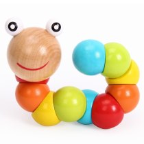 Montessori Variety Tone Twist Toughers caterpillar baby grip toys wooden children educational toys