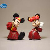 2 pcs/set Cartoon red Wedding  Mickey Mouse Minnie  Figures toys Wedding cake decoration Action toys for kids gift