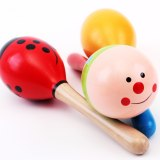 Baby hand crank medium wooden sand hammer Orgefa music toys children's educational toys musical instruments