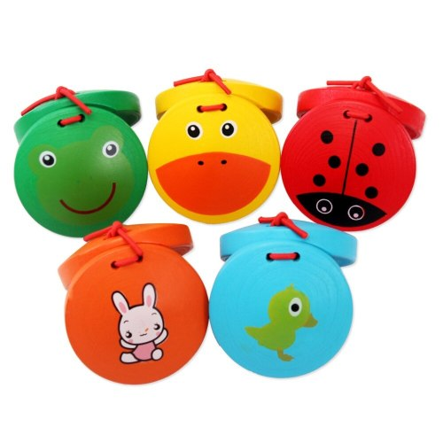 Cartoon animal wood ring board sound music toys kindergarten children early education educational toys Montessori