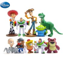 10 pcs/set cars Buzz Lightyear Action Disney  Rex Mr Potato Head Little Green Men  Mini Baby Toys  Figures for kids gift