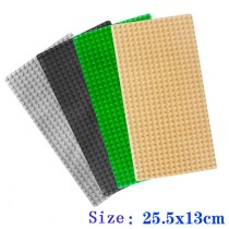 4 pcs/lot 13*25.5 cm  Base plate for Small Bricks Baseplates DIY Building Blocks Toys base Compatible with major brand blocks