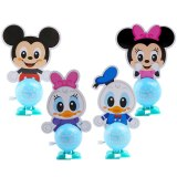 Educational Mickey Mouse Minnie Winding up doll Toy Figures Four-in-one suit mobile puzzle children's toys Action toys