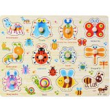 Wooden puzzle panels Wooden paws Handle puzzles Kindergarten toys Pre-school education Puzzle 2-6 years old Puzzle toys