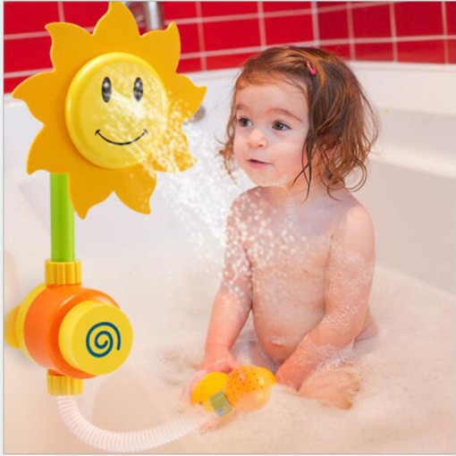 sunflower  Bath Toy Baby Bath Play Toys Sets for Children Water Spraying Taps Early Educational Tool Gifts