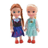 15 cm cute Frozen Princess Anna Elsa Dolls Snow Queen Dolls girls Action Toy Figures Plush Toys for kids birthday christmas gift