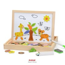 Kidus Wooden Magnetic Puzzle 2 SETS Figure/Animals/ Vehicle /Circus Drawing Board 2 sets promotion pack