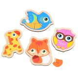 Kidus 4 PCS Wooden Various Type Puzzle kids Educational Jigsaw Puzzle Toys for children
