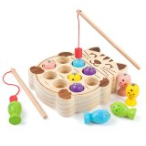 Kidus Wooden Magnetic Fishing Game Jigsaw Puzzle 13 pcs