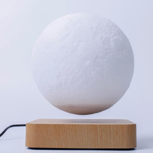Magnetic Levitation 6 inch Rotated  moon Globe Rectangle Base Floating Night Light Festival Christmas Gift Children Toys