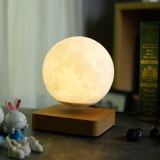 3D Printing Maglev Magnetic Levituna Moon LED Night light Wired Power 360 Rotation Floating Decorative Light table lamp gifts