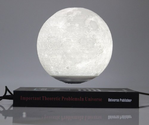 New strange gift Office Desk Decoration Magnetic Levitation 6 inch moon Globe book shape base  Floating nice Night Light