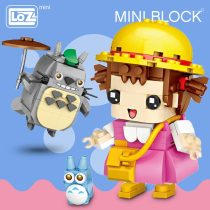 New LOZ Mini Blocks Heads Japan Anime Nutcracker King Bear Cartoon Cute Animal Snoring Soldiers Building Blocks Toys Children
