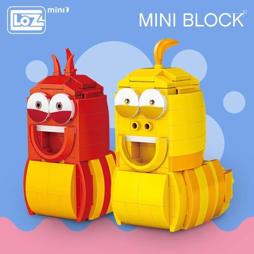 LOZ Mini Blocks Animal Cartoon Worm Set Assembly Anime Action Figure Kawaii Cartoon Bricks Building Blocks Educational Toy DIY