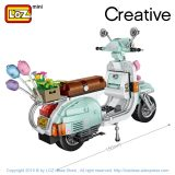 LOZ Mini Building Blocks Motorcycle Sheep Vehicle Assemable Kids Educational Toys for Children Creator Toys Girls Dropshipping