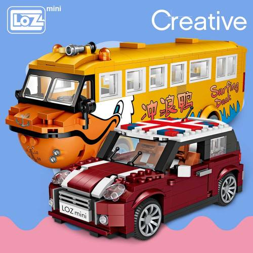 LOZ Mini Blocks Car Model Building Blocks Technic Creator Racing Car Assembly Toys for Children Educational Gifts DIY Bricks Fun