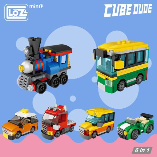 LOZ Mini Blocks Eggs Brick Building Blocks Car Model Brick Toys for Children Train Sports Car Taxi Bus Truck Kids Assembly 4009