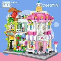 LOZ Mini Block Architecture Model Building Blocks City Series Mini Street Store Perfume Shop Cinema House Toy Children Bricks