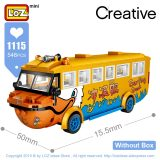 LOZ Mini Blocks Surf Duck Amphibious Bus Duck Boat Travel Car Model Educational Toys for Children Mini Building Bricks Gifts DIY